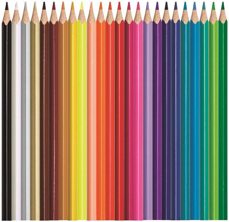 выпрямить, большие картинки цветных карандашей он, его