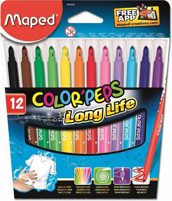 845020 Фломастеры Maped COLOR'PEPS Long Life